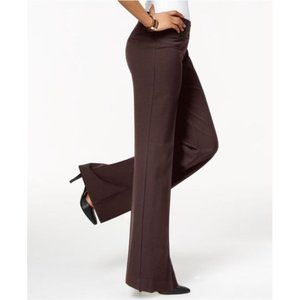 Style & Co Brown Stretch Wide-Leg Pants